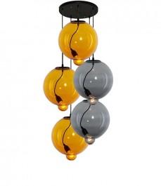 Dwukolorowa lampa wisząca ze szkła Modern Glass Bubble CO