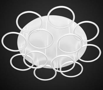 Designerski plafon sufitowy Ledowe Okręgi 12 In biały