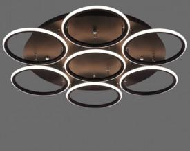 Designerski plafon sufitowy Ledowe Okręgi 7 Out czarny