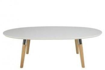 Owalny stolik kawowy w stylu skandynawskim Belina