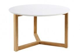 Skandynawski stolik kawowy na drewnianych płozach Osaka