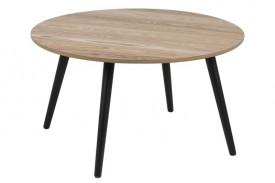 Okrągły stolik kawowy na czterech nogach Stafford Black