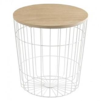 Stolik pomocniczy ze zdejmowaną pokrywą Lotus Wood M