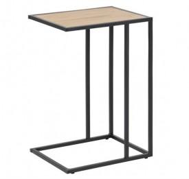 Designerski stolik pomocniczy w stylu industrialnym Seaford dąb