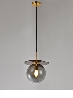 Pojedyncza lampa wisząca ze szklanym kloszem Mademoiselle