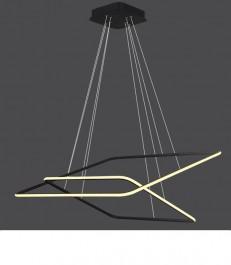 Podwójna lampa wisząca Ledowe Kwadraty 2 Out 3k