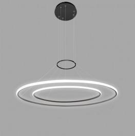 Podwójna lampa sufitowa Ledowe Okręgi 2 out czarna