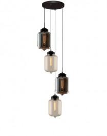 Dwukolorowa lampa sufitowa London Loft 2 ze szklanymi kloszami