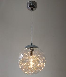 Szklana lampa wisząca z ozdobnymi diodami Glamour C 30