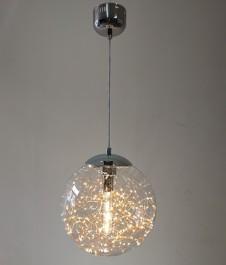 Szklana lampa wisząca z ozdobnymi diodami Glamour C- KOPIA