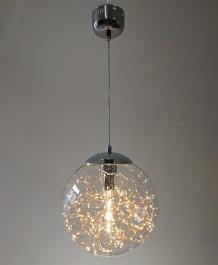 Szklana lampa wisząca z ozdobnymi diodami Glamour B 35