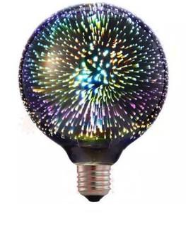 Filamentowa żarówka LED E27 z efektem 3D