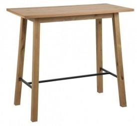 Fornirowany stół barowy na czterech nogach Chara Wood