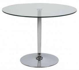 Stół ze szklanym blatem na jednej nodze Becky