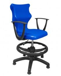 Krzesło do sal szkolnych z podnóżkiem ze stopkami i podłokietnikami Twist