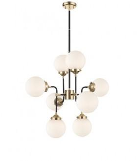 Industrialna lampa wisząca z 8 kloszami Riano biała