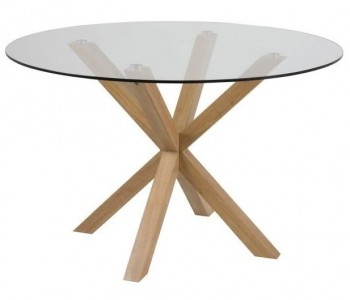 Designerski stół do jadalni ze szklanym blatem Heaven