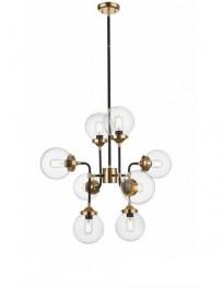 Industrialna lampa wisząca z 8 kloszami Riano transparentna