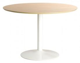 Fornirowany stół na jednej nodze do jadalni i kawiarni Ibiza