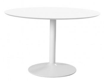 Nowoczesny stół jadalniano-kawiarniany na jednej nodze Ibiza White