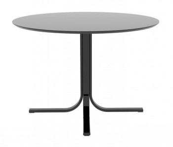 Designerski stół na jednej nodze z okrągłym blatem Janey