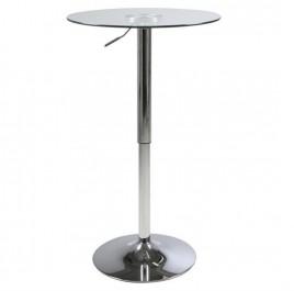 Szklany stół barowy z regulacją wysokości Nido