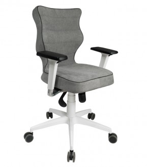 Biurowe krzesło o ergonomicznym kształcie Perto White