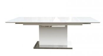 Nowoczesny stół na jednej nodze z funkcją rozkładania Trace