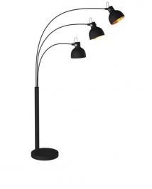 Regulowana lampa podłogowa z trzema kloszami Antenne
