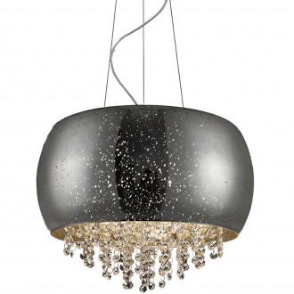 Szklana lampa wisząca z kryształowymi łańcuszkami Vista 40