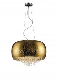 Szklana lampa wisząca z kryształowymi łańcuszkami Vista 50