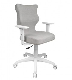 Ergonomiczne krzesło biurowe Duo White