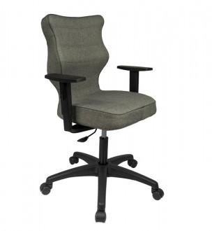 Obrotowe krzesło biurowe o ergonomicznym kształcie Duo Black