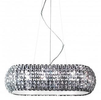 Designerska lampa wisząca ze szklanymi kryształami Antarctica 72