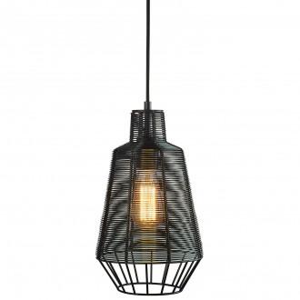 Druciana lampa w stylu industrialnym Wire 20 czarna