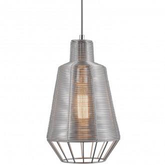 Druciana lampa w stylu industrialnym Wire 20 srebrna
