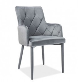 Pikowane krzesło z tapicerowanymi nogami Ricardo Velvet