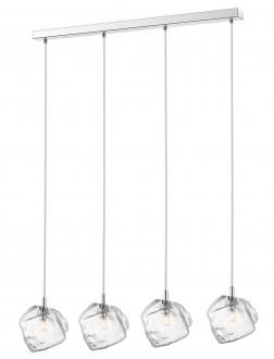 Designerska lampa z czterema szklanymi kloszami Rock