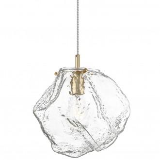 Designerska lampa ze szklanym kloszem Rock 30