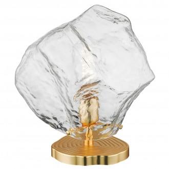 Designerska lampa stołowa ze szklanym kloszem Rock