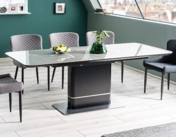 Nowoczesny stół rozkładany z blatem imitującym marmur Pallas Ceramic
