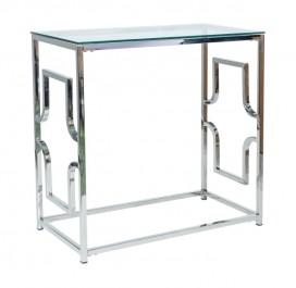Szklana konsola na srebrnych nogach Versace C