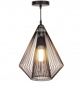 Industrialna lampa z drucianym kloszem Grid
