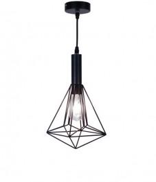 Druciana lampa wisząca w stylu industrialnym Stag