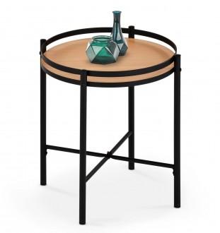 Okrągły stolik pomocniczy w stylu loftowym Mela