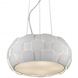 Biała lampa wisząca z poliwęglanu Sole 46