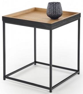 Loftowy stolik z blatem w kształcie tacy Yava