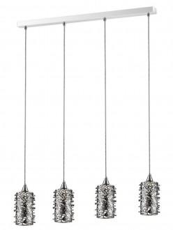 Metalowa lampa z ażurowymi kloszami i kryształkami Gianna LED