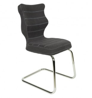 Krzesło konferencyjne z ergonomicznym oparciem Nero Chrom