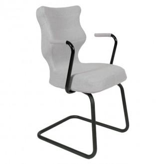 Krzesło konferencyjne z podłokietnikami Nero Plus Black